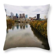 Philly Fall River View Throw Pillow