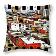 Philly Filmstrip Throw Pillow by Alice Gipson