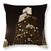 Philly Full Moon Throw Pillow