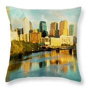 Philly Gleamin Throw Pillow