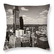 Philly In The Clouds Throw Pillow
