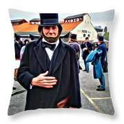 Philly Lincoln Throw Pillow