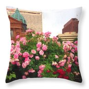 Philly Roses Throw Pillow