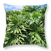 Philodendron 1 Throw Pillow