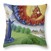Philosophy Instructs Boethius On God Throw Pillow by Getty Research Institute