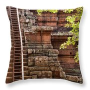 Phimeanakas Temple Steps Throw Pillow