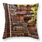 Phimeanakas Temple Steps Throw Pillow
