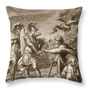 Phineus Is Delivered From The Harpies Throw Pillow