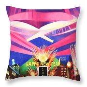 Phish New Years In New York Middle Throw Pillow by Joshua Morton