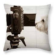 Pho Dog Grapher - Ground Glass View Throw Pillow
