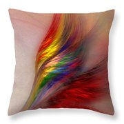 Phoenix-abstract Art Throw Pillow by Karin Kuhlmann