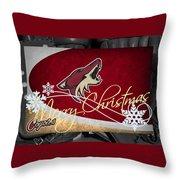 Phoenix Coyotes Christmas Throw Pillow