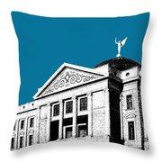 Phoenix Skyline Arizona Capital Building - Steel Blue Throw Pillow