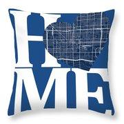 Phoenix Street Map Home Heart - Phoenix Arizona Road Map In A He Throw Pillow