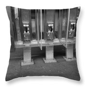 Phone Booth In New York City Throw Pillow