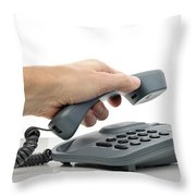 Phone Call Throw Pillow