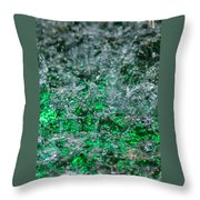 Phone Case - Liquid Flame - Green 2 - Featured 2 Throw Pillow