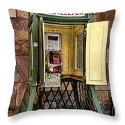 Phone Home - Telephone Booth Throw Pillow