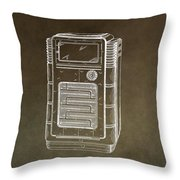 Phonograph Cabinet Patent Throw Pillow