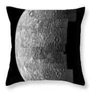 Photo Mosaic Of Images Of Mercury  Throw Pillow