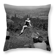 Photo Shoot 1947 Throw Pillow