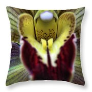 Orchid Center Throw Pillow