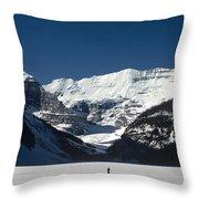 Photog On Lake Louise Throw Pillow