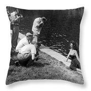 Photogenic Photo Shoot Throw Pillow