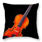 Photograph Of A Complete Viola Violin In Color 3368.02 Throw Pillow