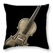Photograph Of A Complete Viola Violin In Sepia 3368.01 Throw Pillow
