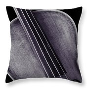 Photograph Of A Upper Body Viola Violin In Sepia 3369.01 Throw Pillow