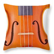 Photograph Of A Viola Violin Middle In Color 3374.02 Throw Pillow