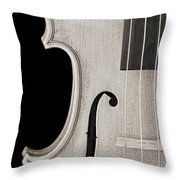 Photograph Of A Viola Violin Side In Sepia 3372.01 Throw Pillow