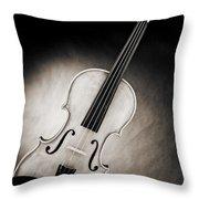 Photograph Of A Viola Violin Spotlight In Sepia 3375.01 Throw Pillow