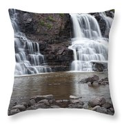 Photograph Of Lower Gooseberry Falls In Minnesota Throw Pillow