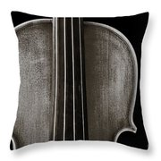 Photograph Or Picture Violin Viola Body In Sepia 3367.01 Throw Pillow