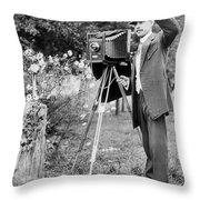 Photographer, C1911 Throw Pillow