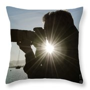Photographer Throw Pillow