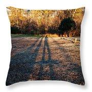 Photographer Shadow Throw Pillow