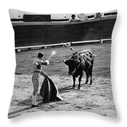 Photographers Including Dick Frontain Bullfight Nogales Sonora Mexico 1969 Throw Pillow