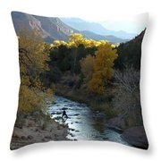 Photographing Zion National Park Throw Pillow