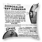 Photography Camera, 1889 Throw Pillow