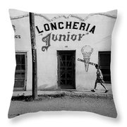 Photography Homage Russell Lee Us-mexico Border Naco Sonora Mexico 1980 Throw Pillow