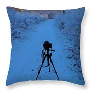 Photography In The Winter Throw Pillow