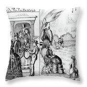 Photography Studio, 1873 Throw Pillow