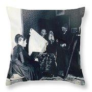 Photography Studio, C1890 Throw Pillow