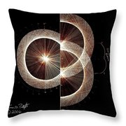 Photon Double Slit Test Hand Drawn Throw Pillow