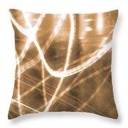 Photon Flow Throw Pillow