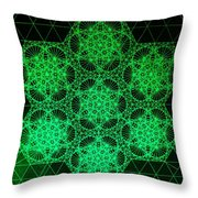 Photon Interference Fractal Throw Pillow