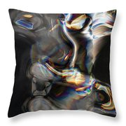 Photonic Totem Throw Pillow